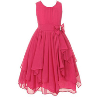 2016 New Girl Ruffled Wedding Irregular Summer Party Princess Dress Chiffon Children S Wear Children S