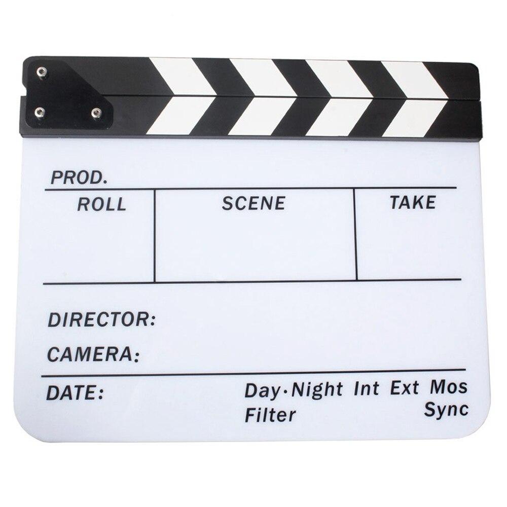 Acrylique Bardeau Dry Erase Film Clapper Board Slate 29.8x24.5 cm