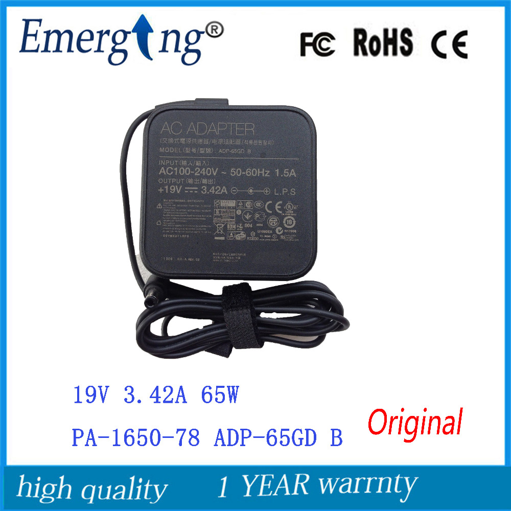 19V 3.42A 5.5*2.5mm  Charger Power Supply Original  AC Laptop Adapter  For Asus PA-1650-78  PA-1650-48 ADP-65GD B ADP-65AW A  19V 3.42A 5.5*2.5mm  Charger Power Supply Original  AC Laptop Adapter  For Asus PA-1650-78  PA-1650-48 ADP-65GD B ADP-65AW A