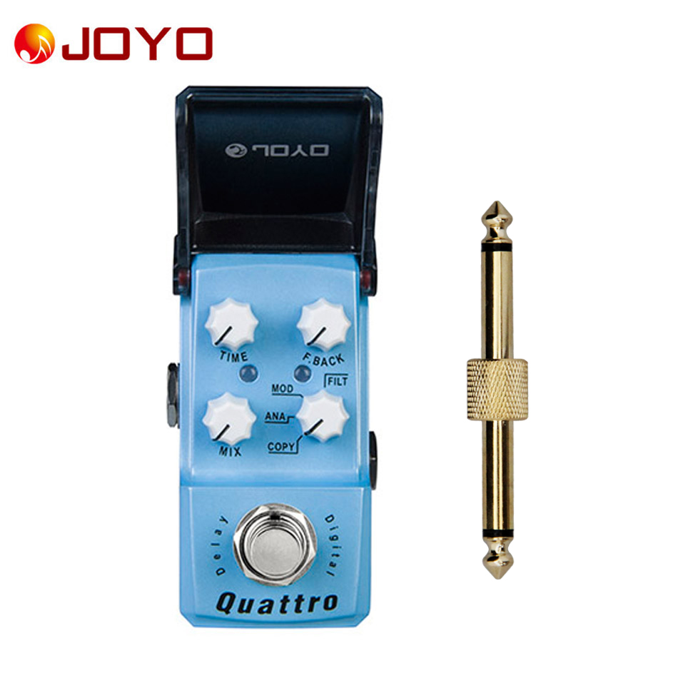 NEW Guitar effect pedal JOYO Digital delay Quattro Ironman series mini pedal JF-318+ 1 pc pedal connector
