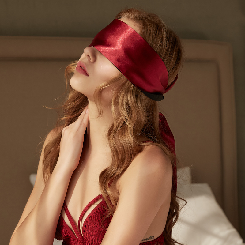 BDSM Flirt Sex Toys For Adults SM Games Soft Satin Sleep Eyeshade Eye Patch Blindfold Eye Mask Sexy Exotic Lingerie Accessories