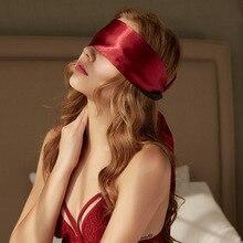 ملابس داخلية مثيرة للنساء من BDSM اللعوب ألعاب جنسية للكبار SM قناع عين للنوم من الستان الناعم قناع عين للعين للعين للعين
