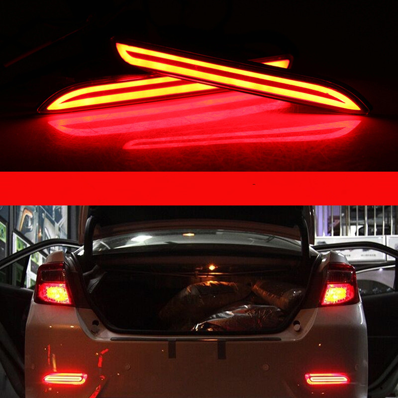 2PC/Set LED Rear Bumper Reflector Light For Toyota Camry 2009-2014 Multi-functions Car Tail Light Auto Bulb Brake Light Fog Lamp new for toyota altis corolla 2014 led rear bumper light brake light reflector novel design top quality fast shipping