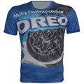 2016 nova crianças roupas meninos meninas Unisex camisa de T 100% Polyster de Oreo de fresco t-shirt Crewneck Tops
