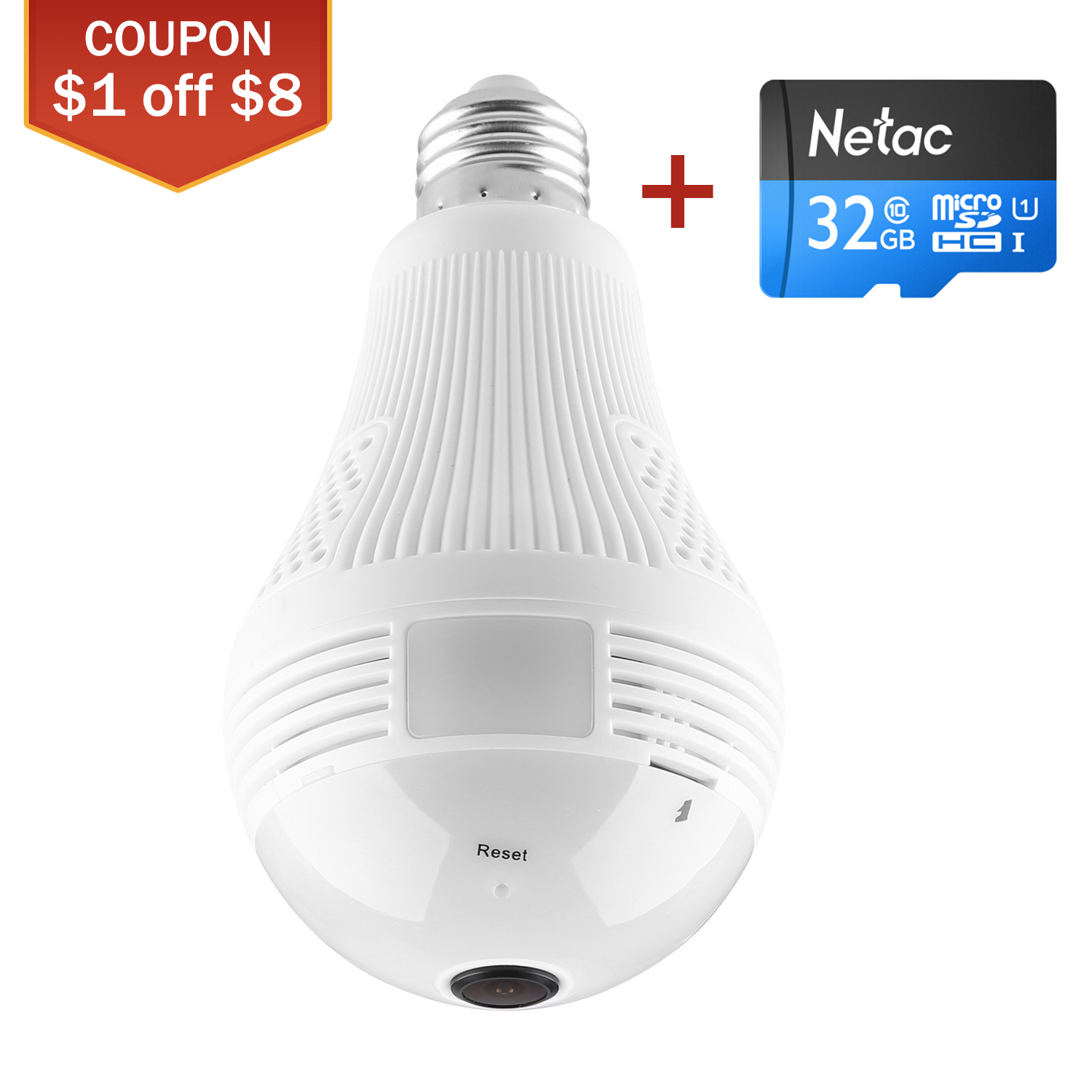 Back To Search Resultssecurity & Protection Sannce Smart Wireless Ip Camera 960p 360 Degree Wifi Camera Bulb Light Fisheye Home Security Camera 16g/32g/64g/128g Surveillance Cameras