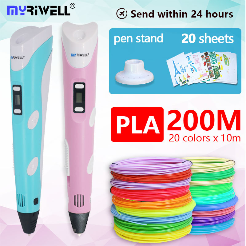 3D Pen 3 D Pen Rp100b Include Safety 20colors 200m 1.75mm PLA Filament The Best Birthday Gift / Christmas Presents For Children
