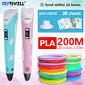3D stift 3 D Stift rp100b umfassen sicherheit 20 farben 200m 1 75mm PLA Filament Die beste geburtstag geschenk /weihnachten geschenke für kinder|3D Stifte|   -