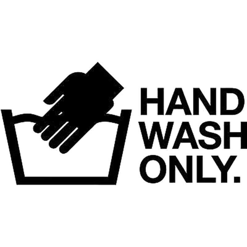 15 2cm 7 6cm hand wash only jdm decal sticker car