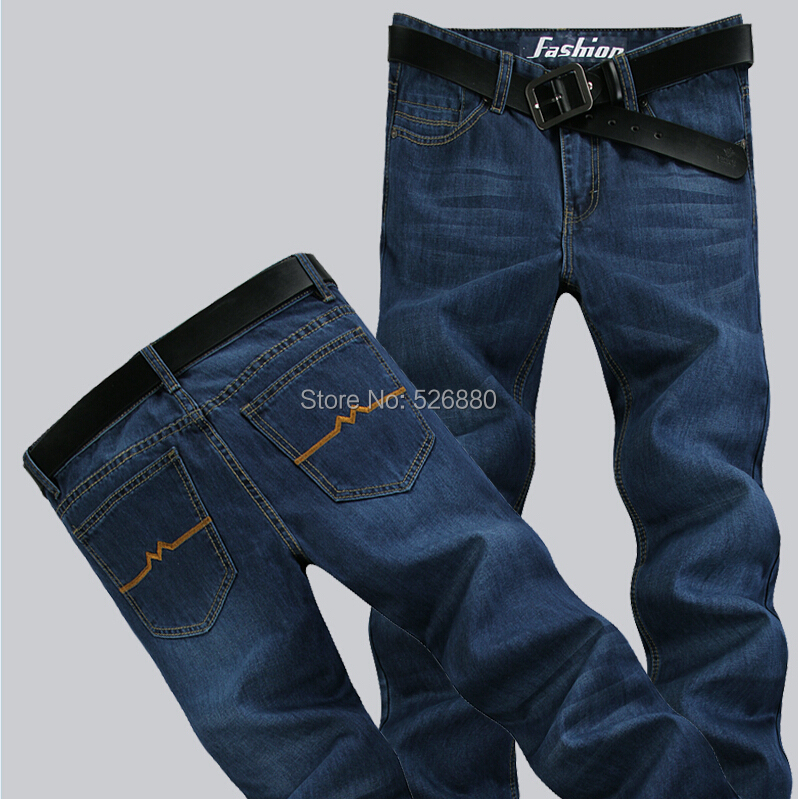 High quality 2016 new four seasons to wear men casual Pure color Denim trousers fashion trends