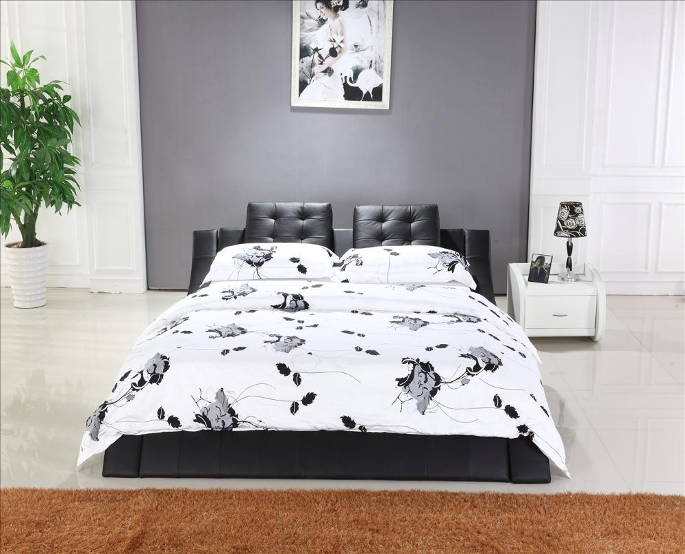Mybestfurn King Size Bed Top Grain Leather Headrest Soft Bed Modern Design Bedroom Furniture Soft Bed B100 Buy Cheap In An Online Store With Delivery Price Comparison Specifications Photos And Customer