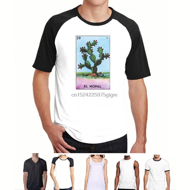 15081b4ef Funny t shirt men novelty women tshirt El Nopal Card Loteria Shirt Mexican  Prickly Pear Cactus