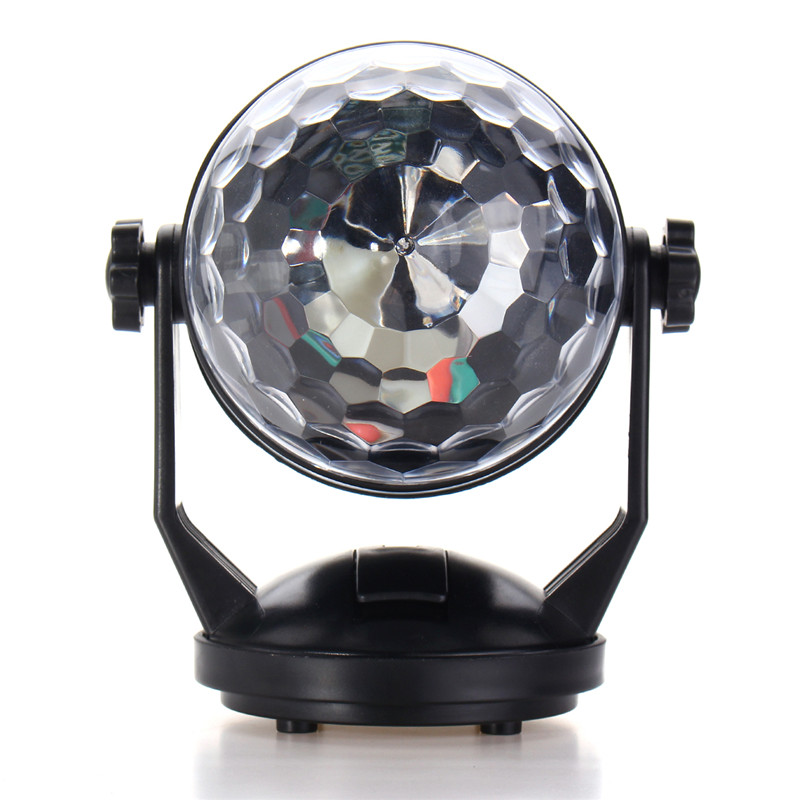 3W Stage Light Mini LED RGB Night Lamp Voice Control USB Magic Ball Disco Crystal DJ Club Bar Party Decor Lighting Effect new arrival rgb led mp3 crystal magic ball stage effect light dj club disco party lighting music with usb disk remote control