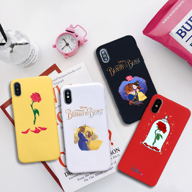 Beauty And The Beast Anime Soft Silicone Candy Color Cover Phone Case For IPhone X XR