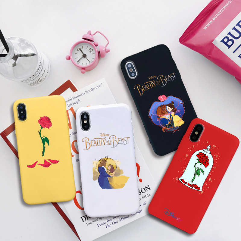 beauty and the beast anime soft Silicone Candy Color cover phone case for iPhone 11 pro X XR XS MAX 6 7 8 plus 6s best  Housing