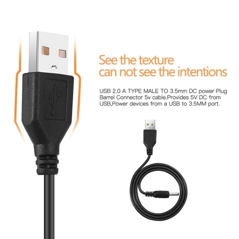 USB 2.0 A TYPE MALE TO 3.5 mm DC Power Plug Stereo Electronics Device Barrel Quick Connector 5V Cable Karachi