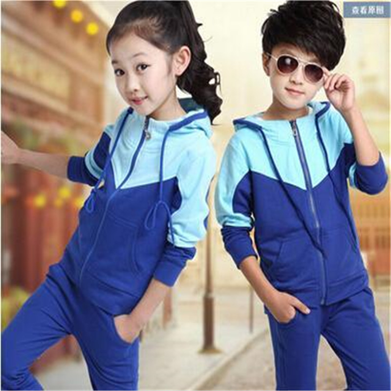 2017 Children Clothing Set Boy Girls Clothes Boy Sports Suits 3-14 Years Kids 2pcs Sets Spring Autumn Kids Clothes Tracksuits 2017 new boys clothing set camouflage 3 9t boy sports suits kids clothes suit cotton boys tracksuit teenage costume long sleeve