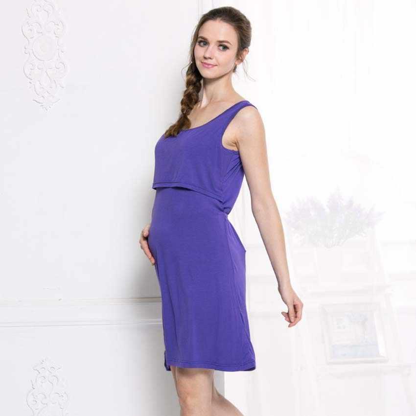 1c3f35b2b9da5 ... Summer Maternity Breastfeeding Nursing Nightgowns for Nursing Mothers  Breast Feeding Nightdress Pregnancy Maternity Night Dress ...