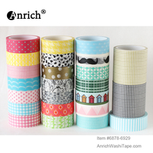 Free Shipping and Coupon washi tape,Anrich tape #6878-6929,basic design,lovely, eometric patterns