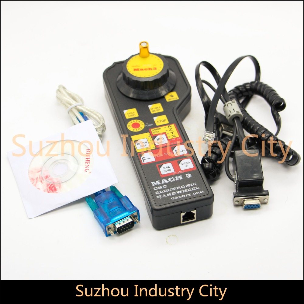 USB CNC Mach3 controller CNC USB MPG Pendant For Mach3 4 Axis Engraving Fittings interface board Pulse generator