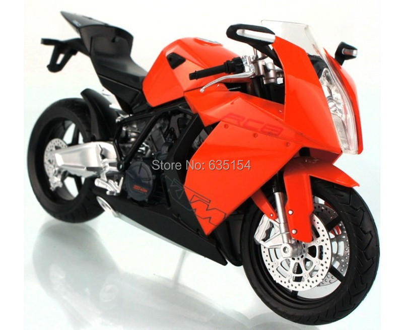 brand new 1/12 scale diecast motorcycle toys ktm rc8 super bike