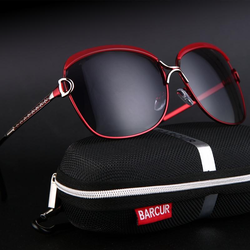 BARCUR Polarized Ladies Sunglasses Women Gradient Lens Women Sun Glasses Luxury Brand Oculos Feminino Lentes De Sol Mujer