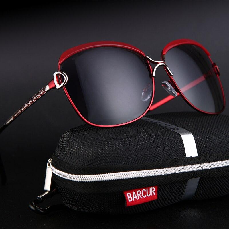 Barcur polarizado senhoras óculos de sol lente gradiente feminino óculos de sol marca luxo feminino lentes sol mujer