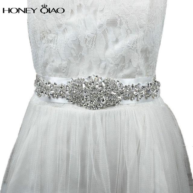 Crystal Bridal Belts for Wedding Dresses 2016 Cinturones de novia con Cristales Rhinestone Sashes for Wedding Accessories