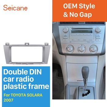 Seicane 2 DIN 202*102 Mm Refitting DVD Panel Auto Radio Bingkai untuk Toyota Solara Audio Fasia Dashboard Cover trim