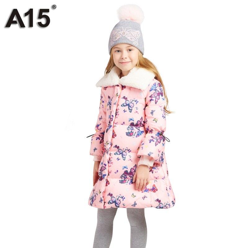 100% Waar A15 Meisjes Donsjack Winter Dikke 2018 Merk Lange Jas Prinses Jas Kinderen Parka Jassen Tiener Meisje Kleding 6 8 10 12 14 Jaar