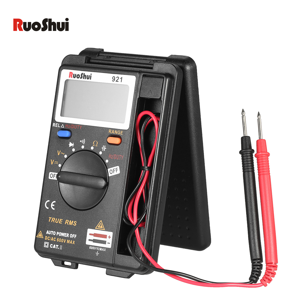 RuoShui Digital Multimeter Auto Range True RMS DMM Voltmeter Ohmmeter DCAC Voltage Resistance Diode Capacitance Frequency Tester