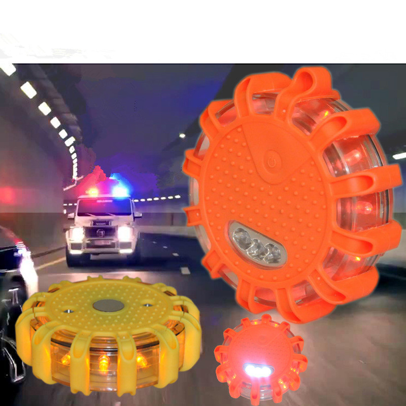 LED Round Beacon Emergency Strobe Flashing Warning Lights Round Car Roof Police Light bar Road Safety Light 6units case rechargeable roadway traffic safety led anti collision warning lights beacon roof emergency light waterproof