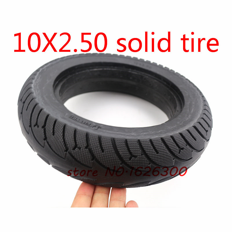 LOO LA 10 inch Scooter Tire Tyre Electric Scooter Solid Tyre Flat Free Scooter Rubber Tire Durable Replacement Tyre Anti-slip Tire for electric scooter solid tire 10X2.50