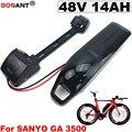 Перезаряжаемая литиевая батарея электрического велосипеда 48V 14AH для Bafang BBSHD 300W 500W 1000W батарея для электровелосипеда 48V Бесплатная доставка