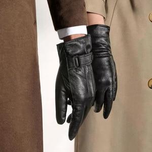 Image 5 - Original Qimian Men /women Lambskin Touch Screen Gloves from Spanish Raw Materials