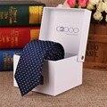 Dos homens de Negócios Gravata De Seda Formal Listrado Dot Jacquard Gravatas de Casamento Novos Acessórios Clássicos Corbata Gravata Gravata para Os Homens