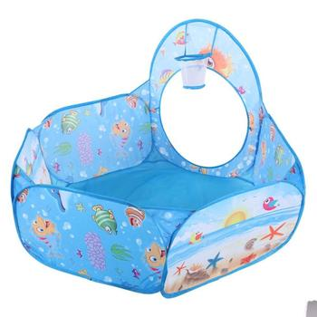 Pop Up Tent Kids | Portable Pool-Tube-Teepee Baby Play Tent House Foldable 3pc Pop-up Crawling Tunnel Ocean Ball Playing Tent Kids Secret House