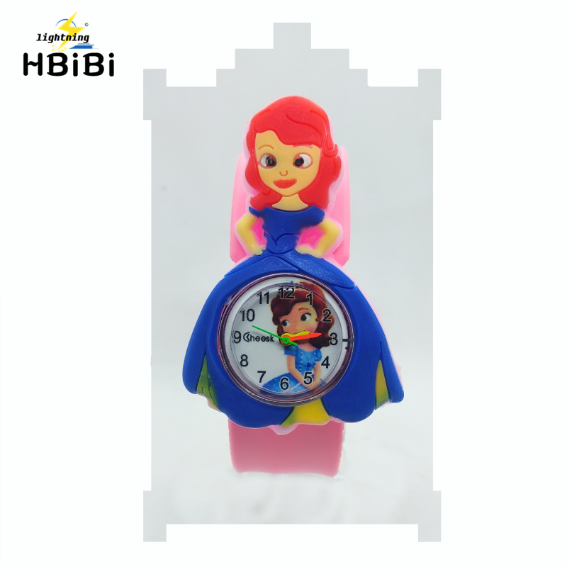 Children Cartoon Princess Watches 2019 Cool 3D Rubber Strap Kids Watch For Girls Clock Baby Toy Christmas Gift Relogio Infantil