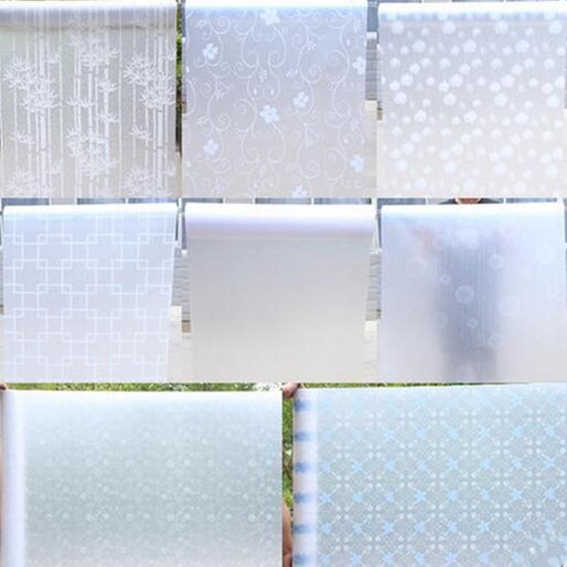 45x200 cm traslucido glass window film privacy autoadesivi di vetro balcone porta scorrevole bagno carta finestra adesivi ombreg