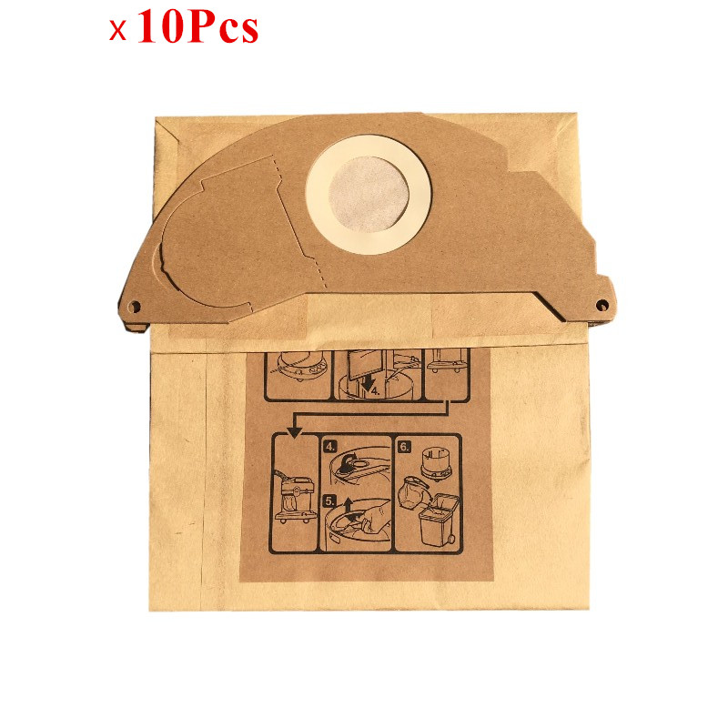 цена на 10pcs Vacuum Cleaner Dust Filter Paper Bag for KARCHER WD2250 A2004 A2054 MV2 Robot Vacuum Cleaner Parts Karcher Dust Bags