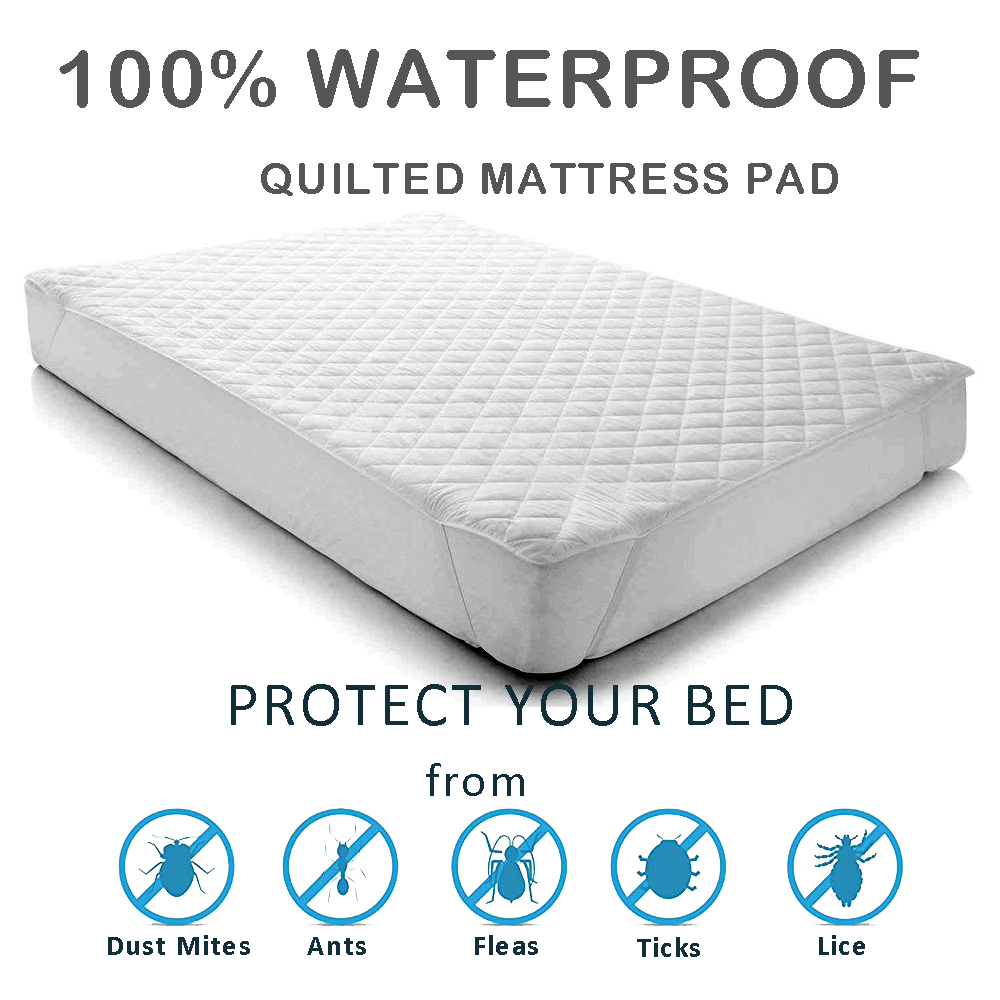 Lfh Cotton Waterproof Sheet Protector Quilted Mattress Pad