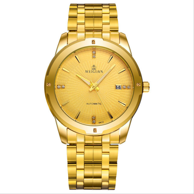 Men's stainless steel watch band business quartz watch.Contracted fashion96 business quartz watch.