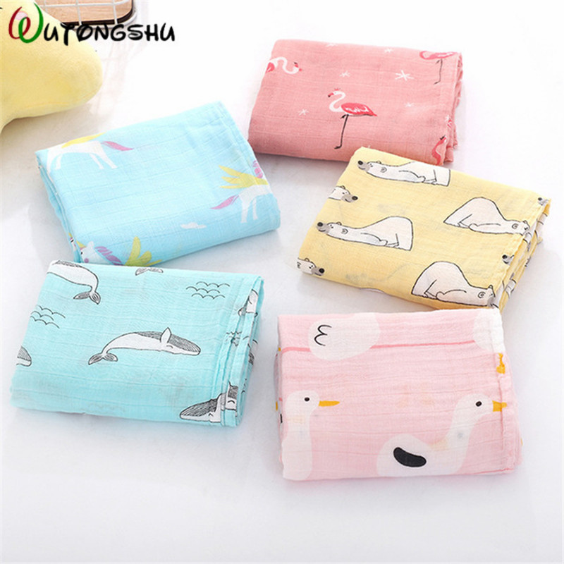Bamboo Cotton Baby Blanket Baby Swaddle For Newborns Wraps Baby Bath Towel Stroller Cover Girls Boys Swaddling Photography Wrap