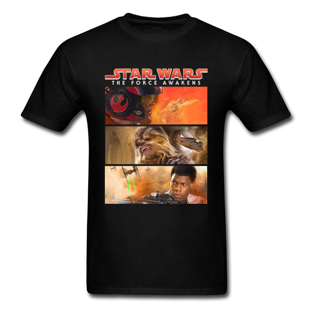 Resistance Framed 2018 Star Wars The Force Awakes 3D T Shirt Men Summer Tops Tees Black T-shirt Character Printed