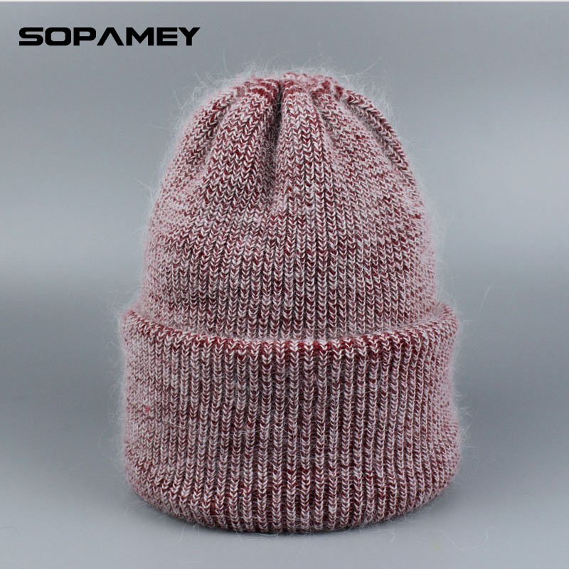все цены на 2017 Autumn Winter Hats Knitted Skullies Beanie Wool Hat Solid Gorros Hip Hop Beanies for Men Hats Snow Caps High Quality онлайн