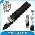 18mm ternero correa de piel genuina para huawei watch/fit honor s1 mariposa hebilla banda de reemplazo correa de pulsera pulsera de la correa