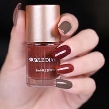 NICOLE DIARY 9 мл цвет матовый лак для ногтей тусклый красный серия лак для ногтей маникюр лак для ногтей Цвет