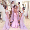 Custom Made Shinning Sequines Crystal Mermaid Bridesmaid Dresses