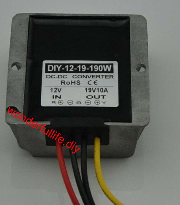 10PCS DC Converter Module 12V(9-19 Step up to 19V 10A 190W Car Power Adaptor Regulator 10pcs dc 12v step up to dc 28v 15a 420w boost power converter regulator module