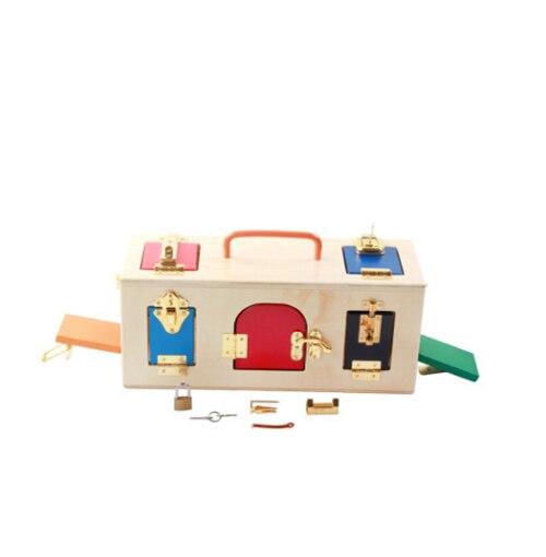 Montessori en bois début éducation puzzle bébé début débloquer jouets maternelle Intelligence enseignement outil - 3