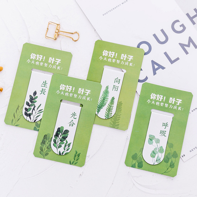 Cute Green Midori School Magnetic Teacher Gift Bookmark Page Tabs Office Supplies Stationery Items Kawaii Accessories